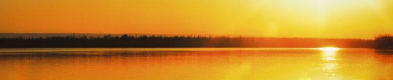 Peace River Sunrise - Fort Vermilion, Alberta