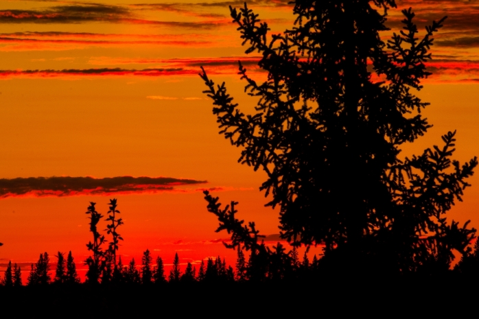 Sunset Above the Peace River - Fort Vermilion, Alberta