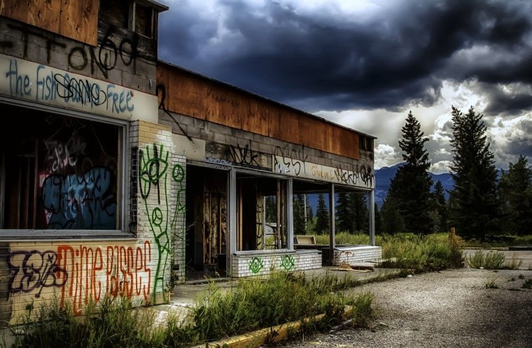 Derelict Service Station - Southern Alberta 12