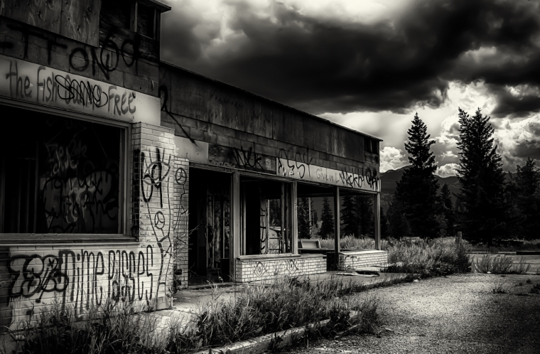 Derelict Service Station - Southern Alberta 14