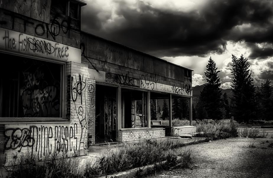 Derelict Service Station - Southern Alberta 14