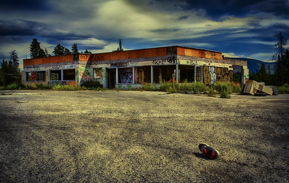 Derelict Service Station - Southern Alberta 2