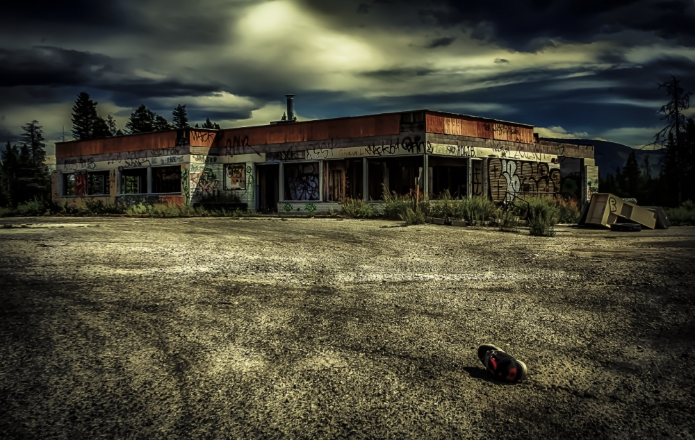 Derelict Service Station - Southern Alberta 3