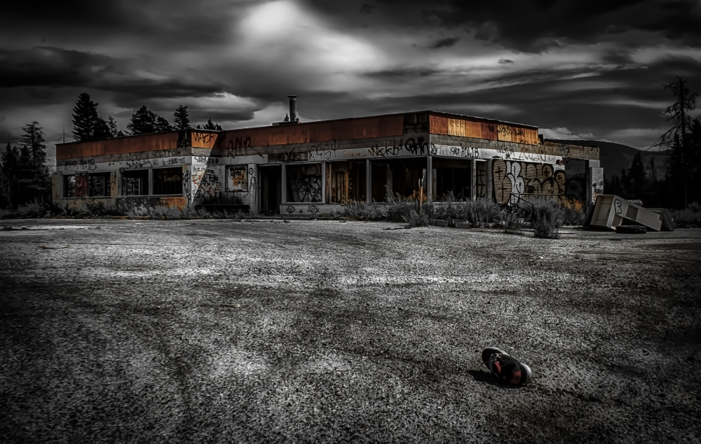 Derelict Service Station - Southern Alberta 4
