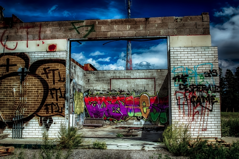 Derelict Service Station - Southern Alberta 6