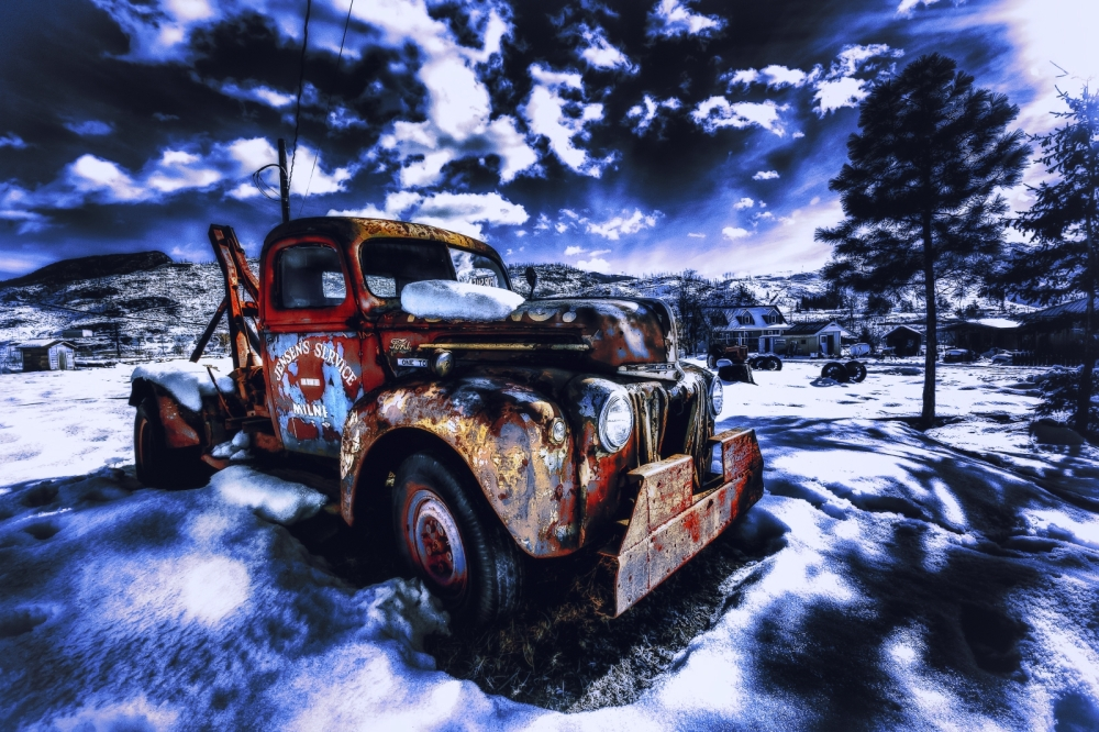 HDR - 1947 Ford One Tonne Tow Truck, McLure, British Columbia