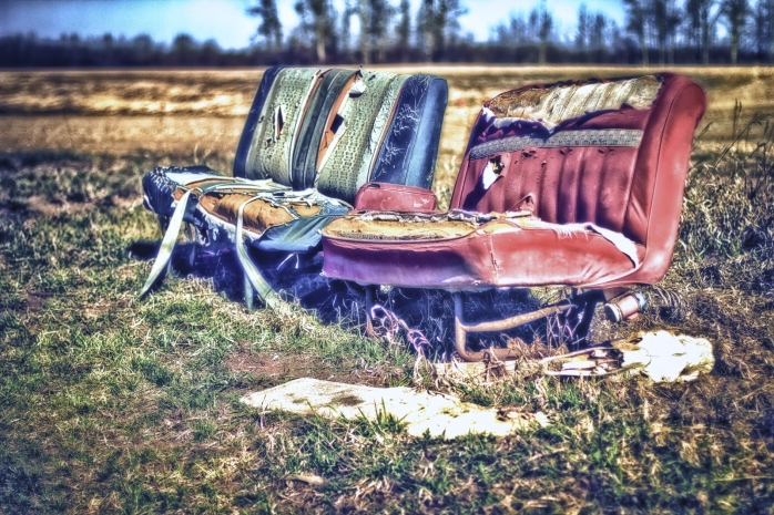 HDR - North of 60 Bus Shelter Seats, Valleyview, Alberta