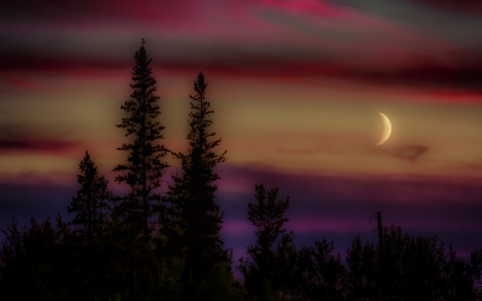 Buttertown Moon, Fort Vermilion, Alberta