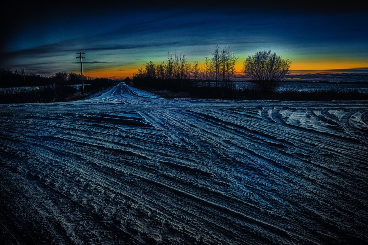 Winter Crossroads - Rycroft, Alberta