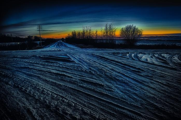 Winter Crossroads - Rycroft, Alberta