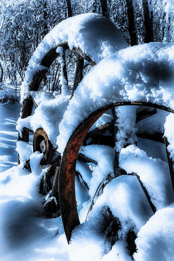 Wagon Wheels - McNaught Homestead, Beaverlodge, Alberta 2