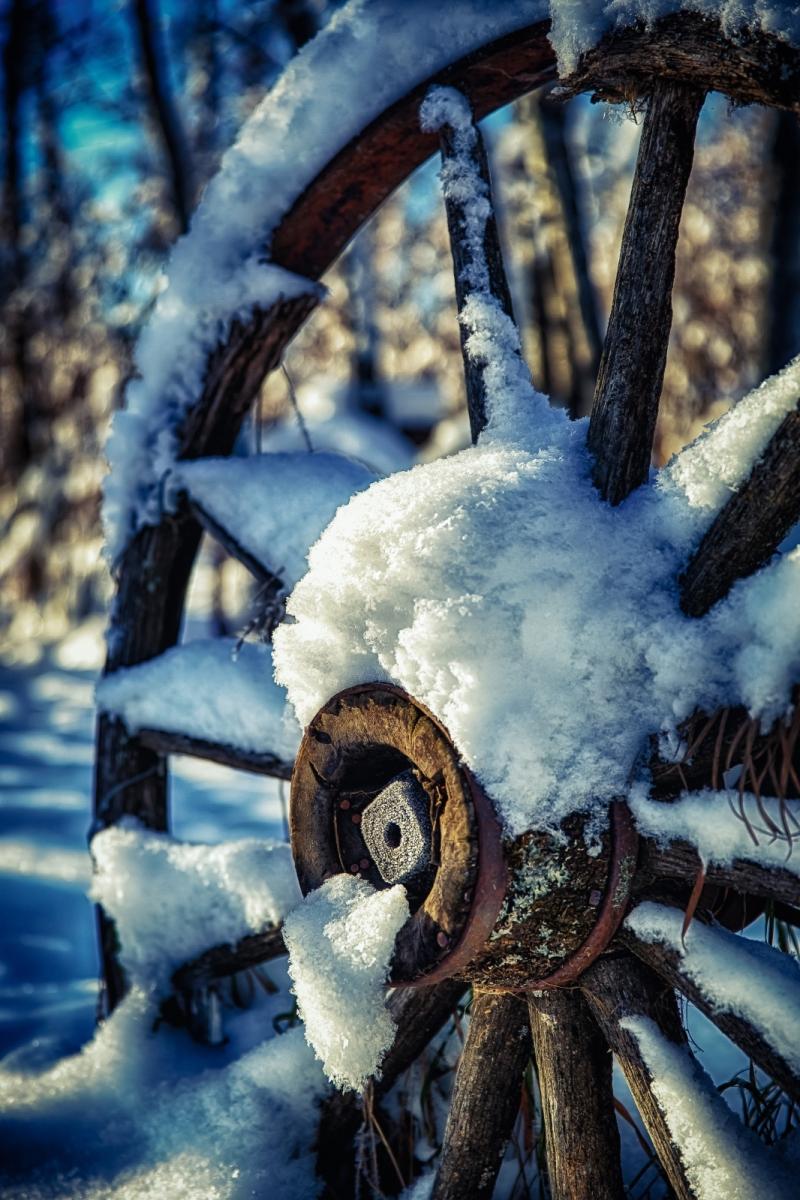 Wagon Wheel - McNaught Homestead, Beaverlodge, Alberta 3