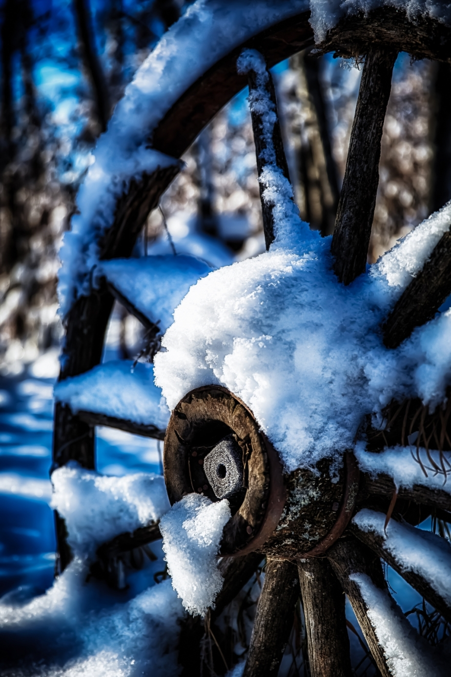 Wagon Wheel - McNaught Homestead, Beaverlodge, Alberta 4
