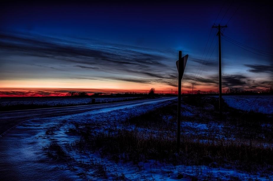 Yield Sign - Rycroft, Alberta
