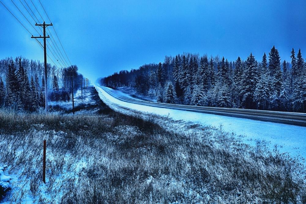 Winter Road - Blumenort, Alberta 1
