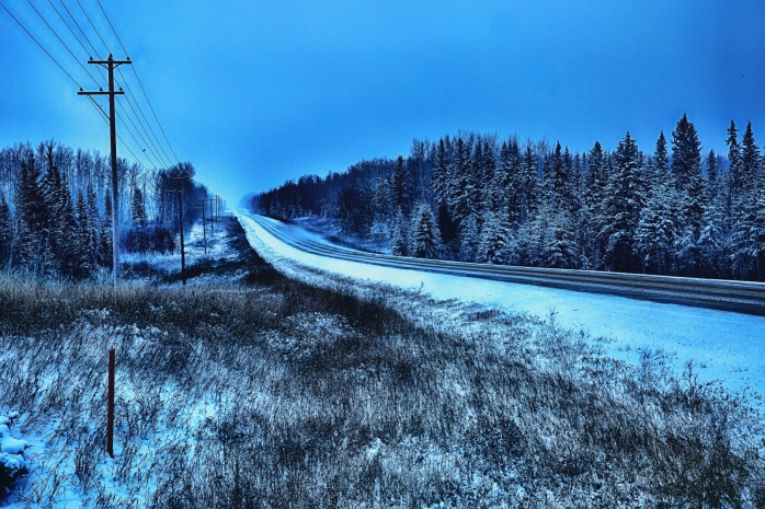 Winter Road - Blumenort, Alberta 1