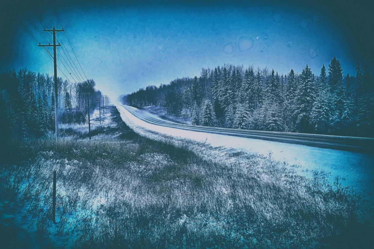 Winter Road - Blumenort, Alberta 2
