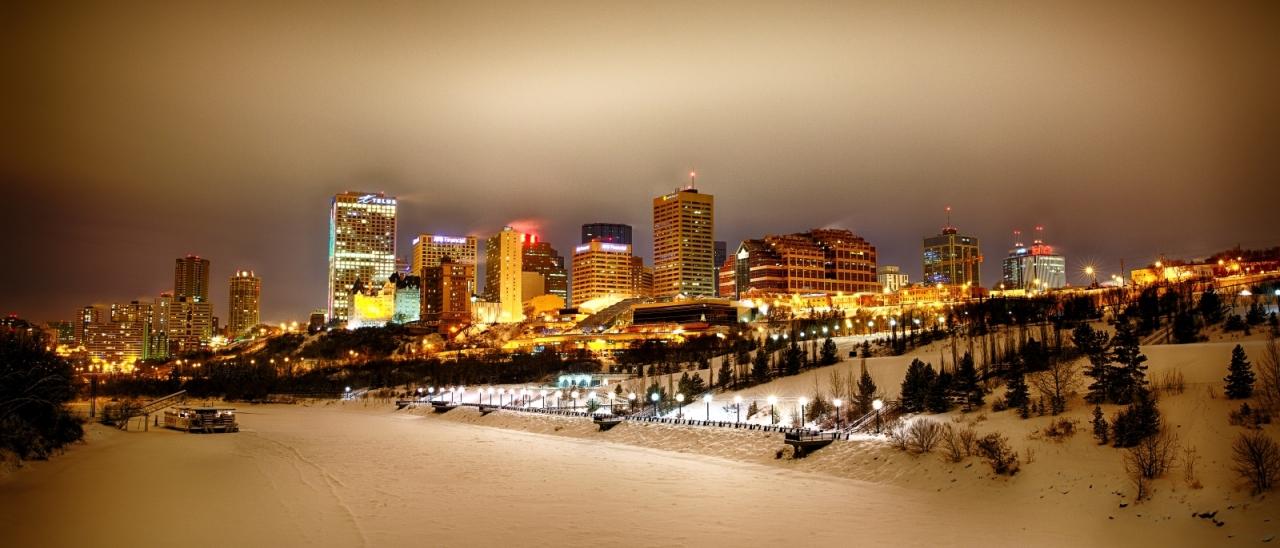 Downtown Edmonton from Cloverdale Walkway Bridge - Edmonton, Alberta 1