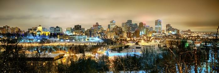 Downtown Edmonton from Saskatchewan Drive - Edmonton, Alberta 1