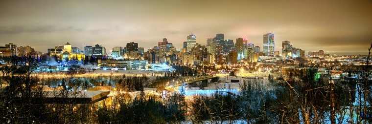 Downtown Edmonton from Saskatchewan Drive - Edmonton, Alberta 1