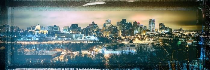 Downtown Edmonton from Saskatchewan Drive - Edmonton, Alberta 2