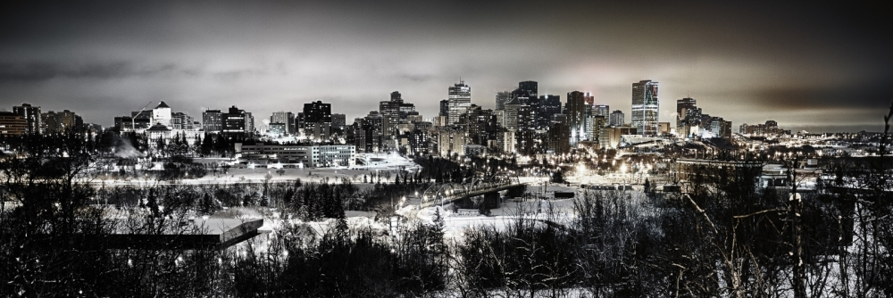 Downtown Edmonton from Saskatchewan Drive - Edmonton, Alberta 3