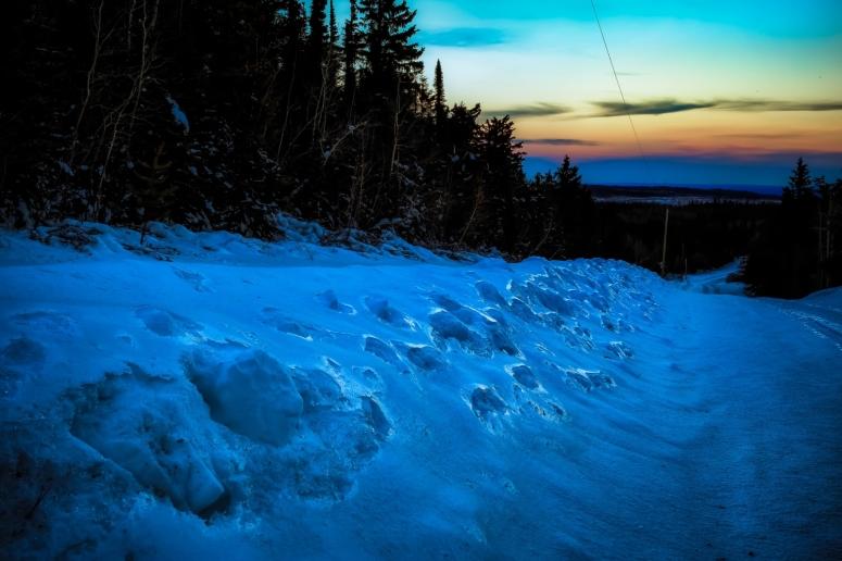 Watt Mountain Ice - High Level, Alberta 1