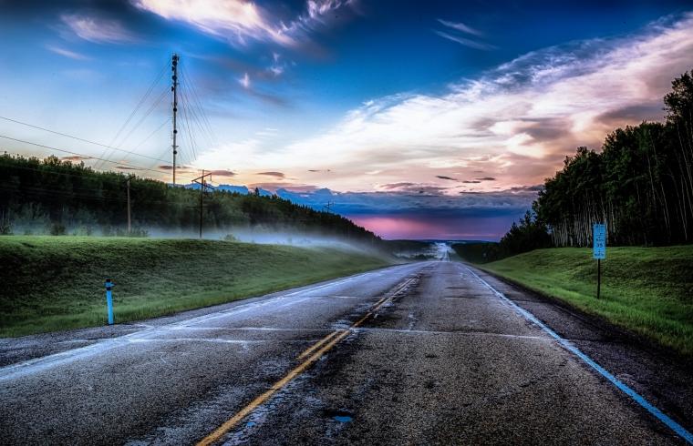 Highway Mists - Twin Lakes, Alberta 1