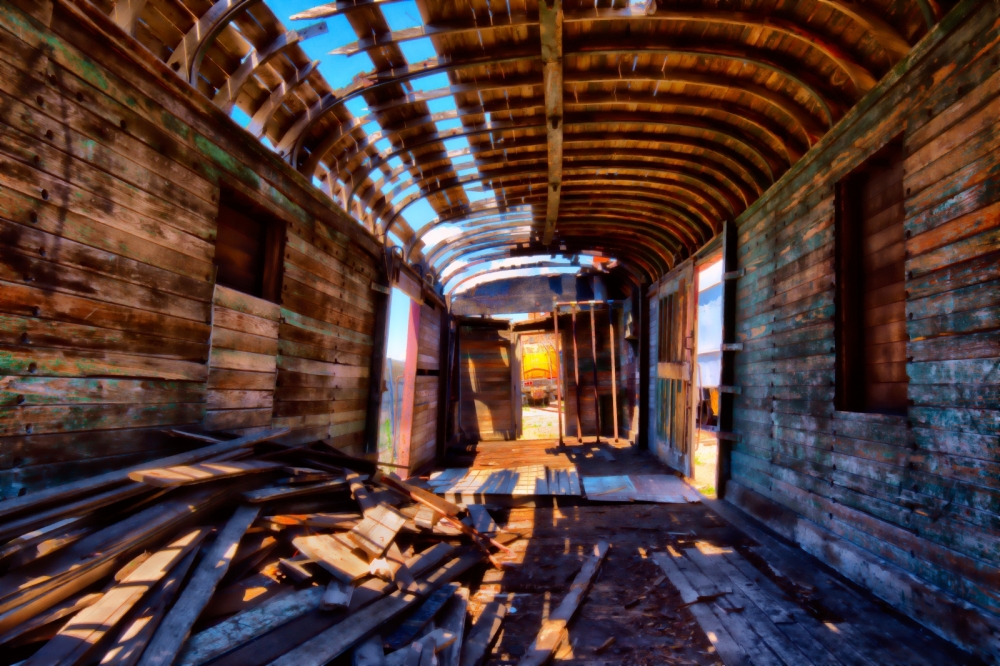 Burned Out Box Car - Ogden, Utah 1