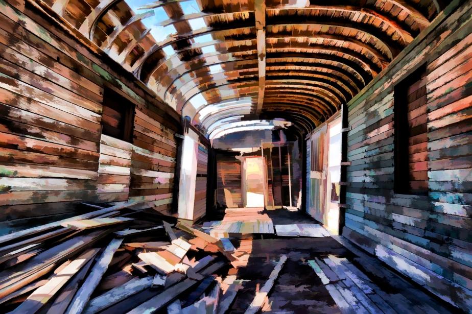 Burned Out Box Car - Ogden, Utah 2