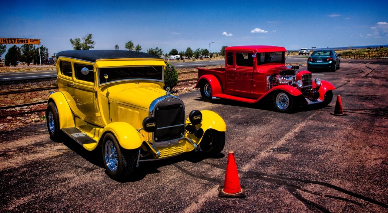 1931 Ford Sedan and Pickup - Grand Canyon, Arizona 1