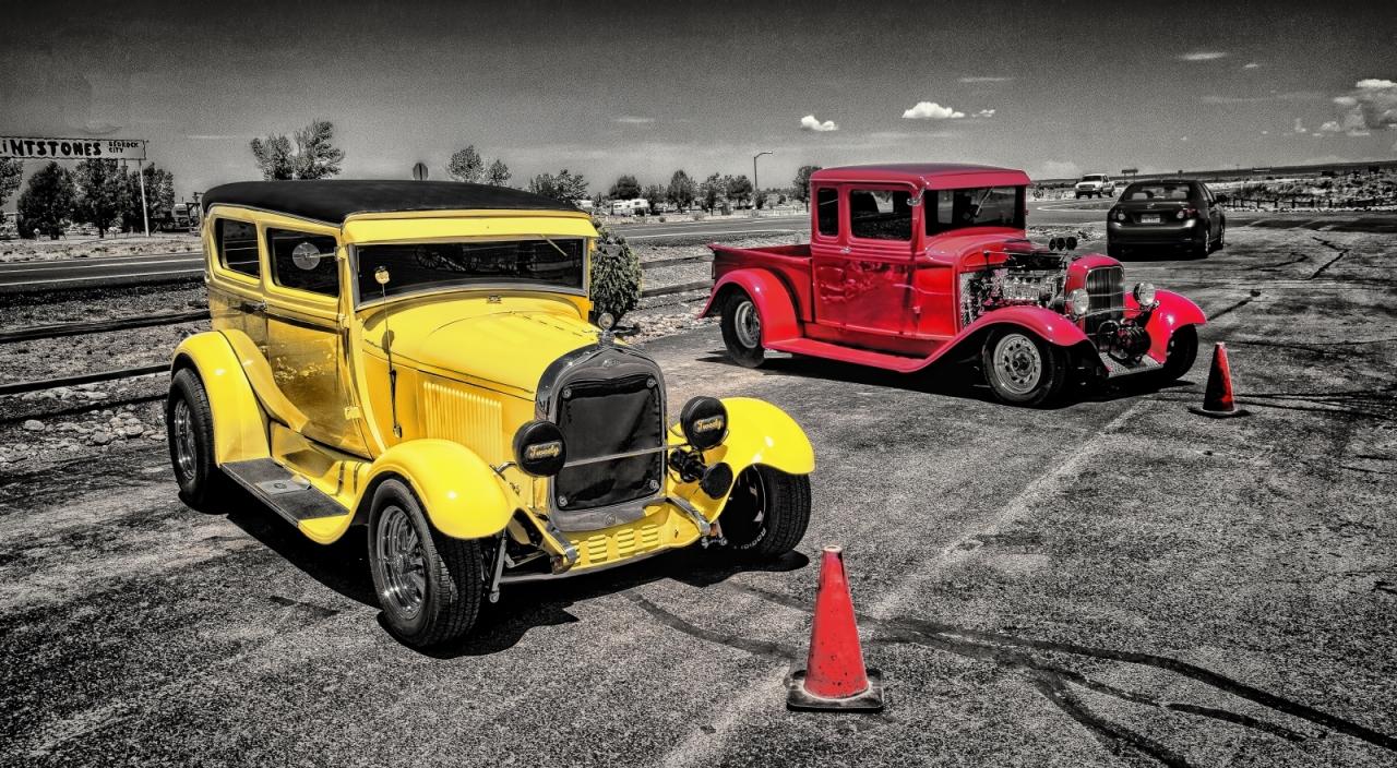 1931 Ford Sedan and Pickup - Grand Canyon, Arizona 2