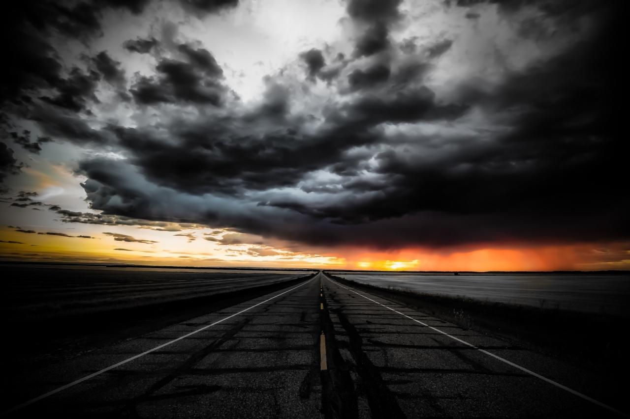 Sunset Cloudburst - Valleyview, Alberta - Canada