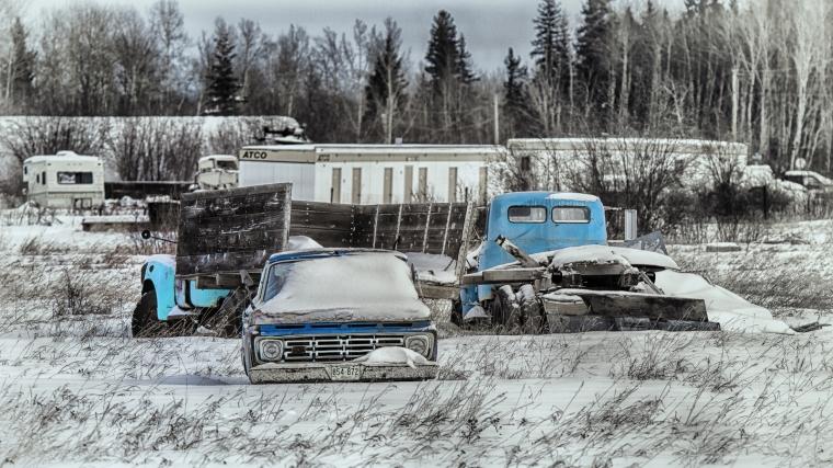 Dormant Rusting Relics - Manning, Alberta 1