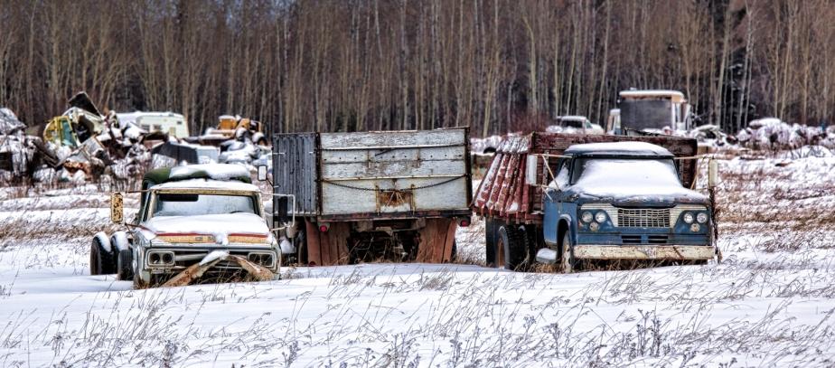 Farm Trucks - Manning, Alberta 1