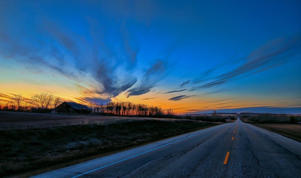 La Glace Homestead  - Sunset, La Glace, Alberta - Canada 3