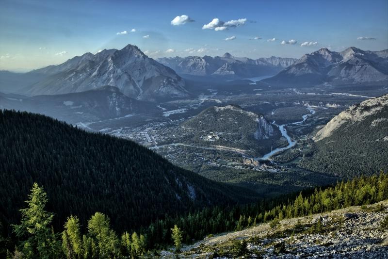Banff from Sulfur Mountain - Banff, Alberta - Canada