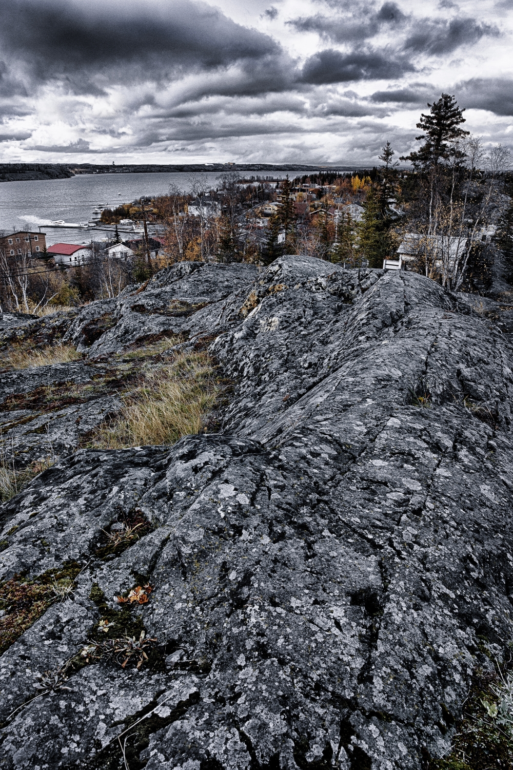 Looking Out from the Pilot's Memorial - Yellowknife NT - Canada