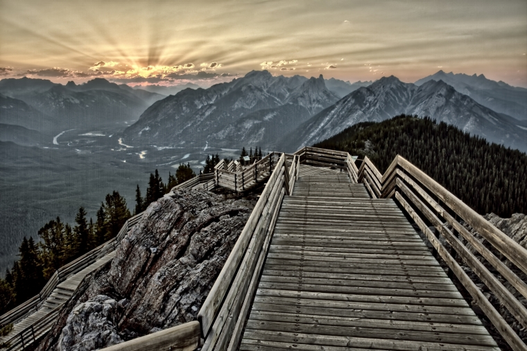 Sulfur Mountain Walkway - Banff, Alberta - Canada