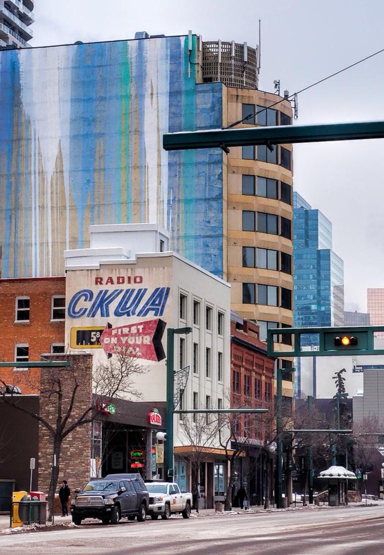 CKUA Signage - Jasper Avenue, Edmonton, Ab - Canada 1