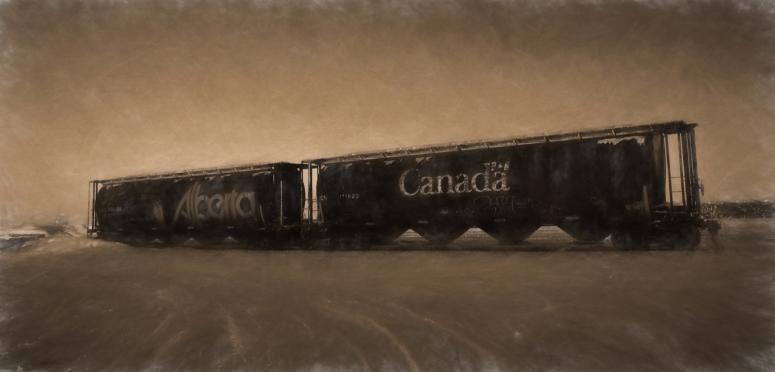 Grain Car Tattoo - High Level, Ab - Canada 7a