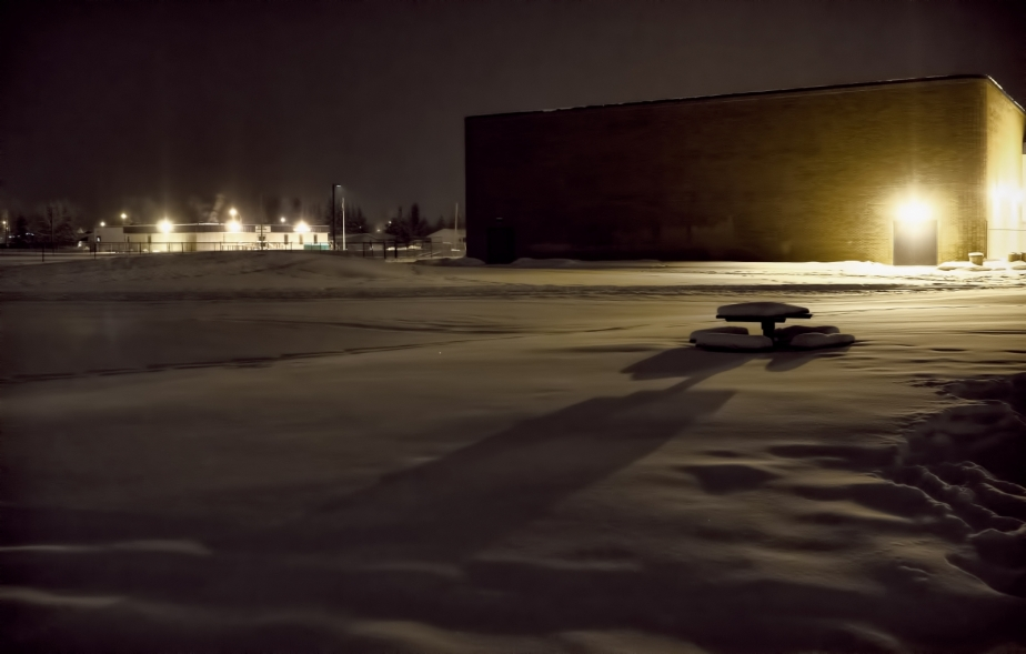 Winter Picnic Table - High Level, Ab - Canada