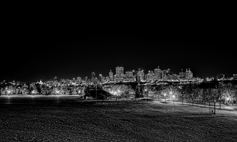 Edmonton Skyline from Connor's Hill - Edmonton, Ab Canada 1