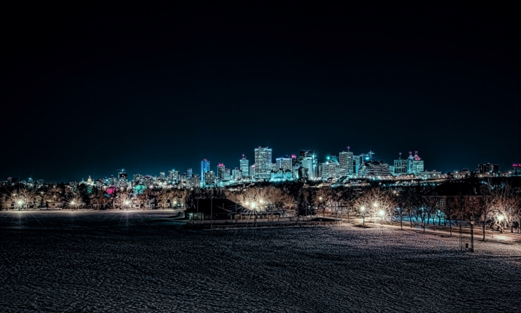 Edmonton Skyline from Connor's Hill - Edmonton, Ab Canada 2