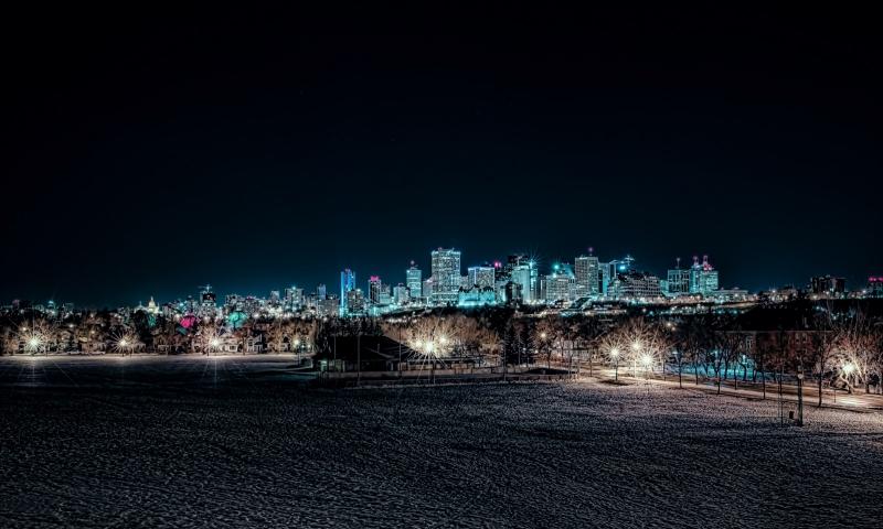 Edmonton Skyline from Connor's Hill - Edmonton, Ab Canada 2