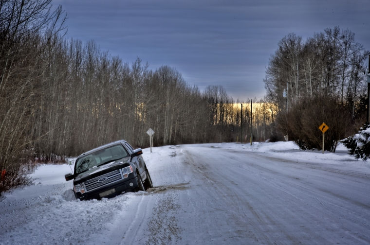 Stuck in Snow - Buttertown, Fort Vermilion, AB Canada