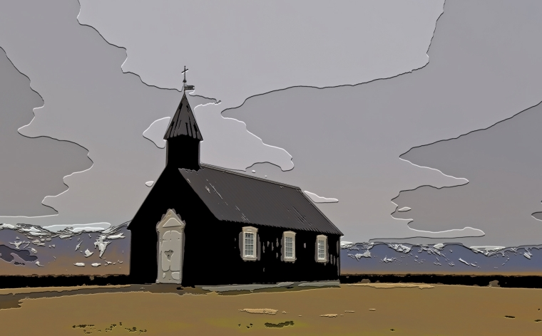 Black Church at Buðir, Iceland - 3