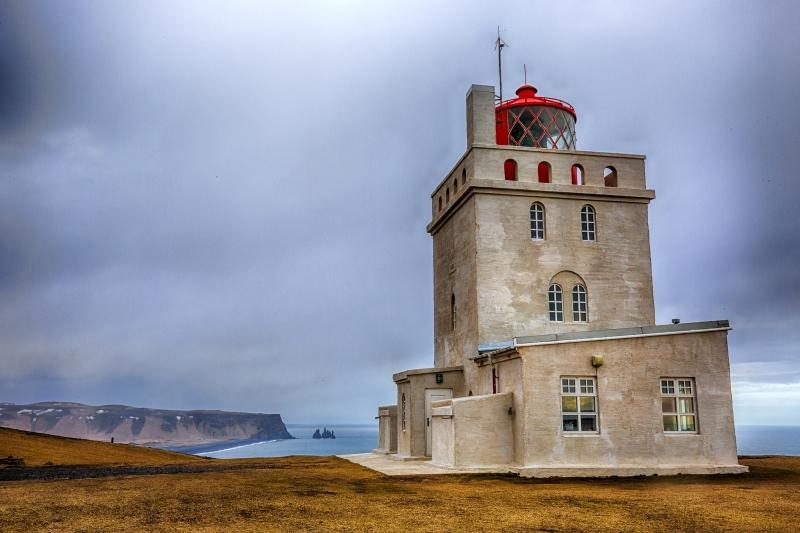 Lighthouse at Dyrhólaey Arch, Iceland 3
