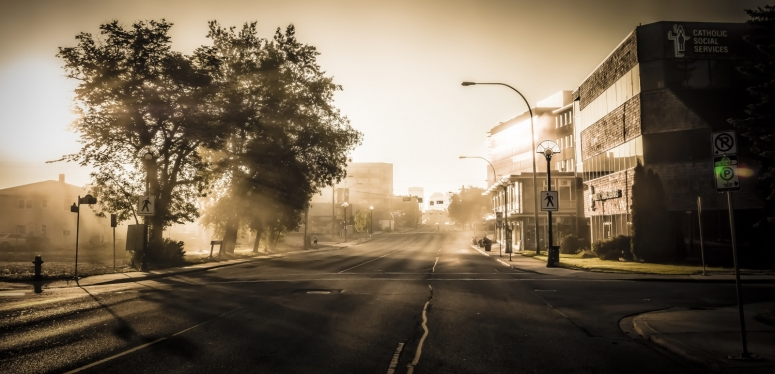 Early Edmonton Morning in August - 1