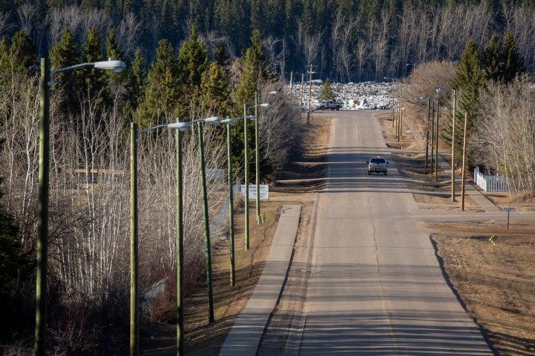 Peace River Break-up at Fort Vermilion, Alberta